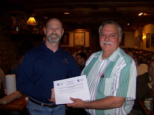 Bill receiving TSPS certificate